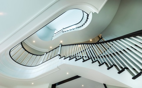 Furze Field, Oxshott - Luxury Precast Concrete Curved Stairs