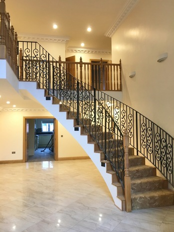 Finished curved stair - Precast Concrete stair design completed with elegant curve