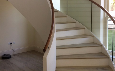 Kallisto stair close up of solid oak treads