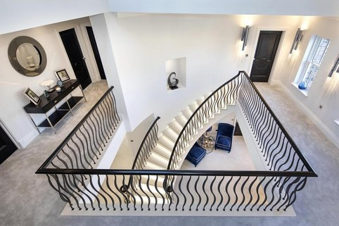 Ellwood Grange - Aerial view of Kallisto curved stair