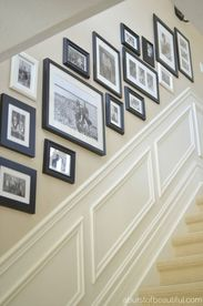Picture frame ideas for staircases