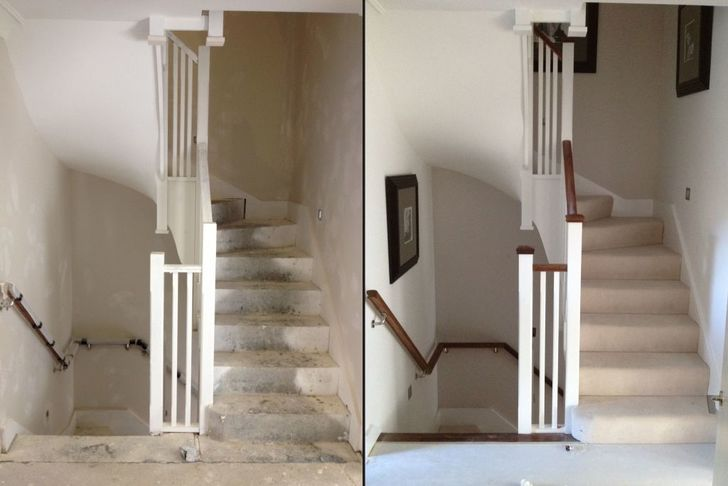 lime grove mews before after precast concrete winder curved spiral staircase