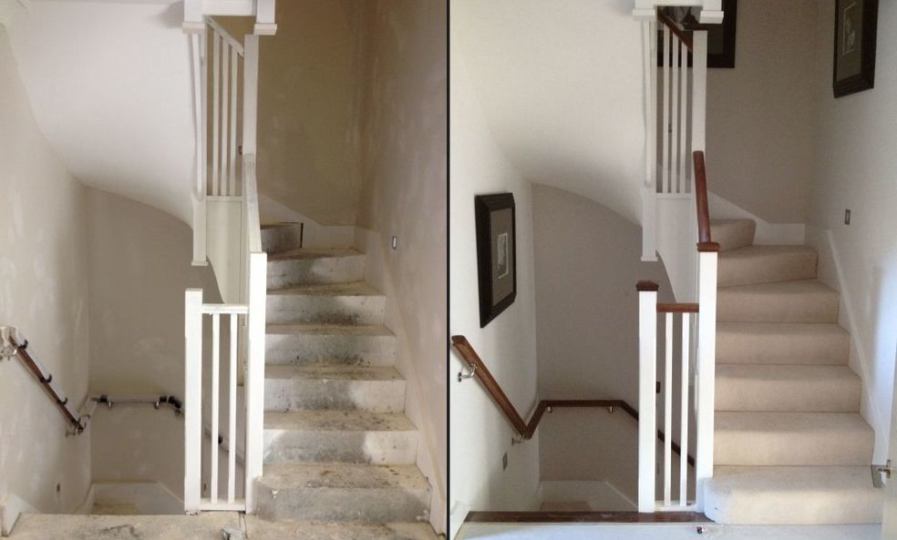 Winder Stairs Before and After