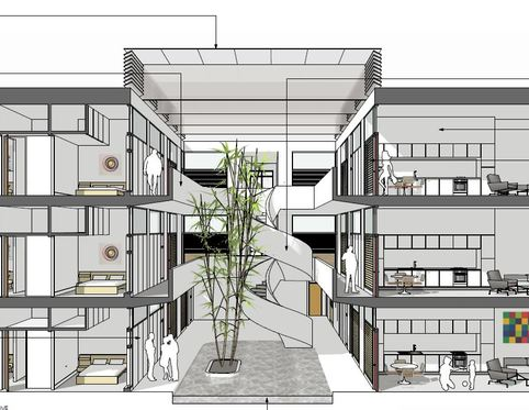 Internal Drawing Details of Denham Film Studios Development