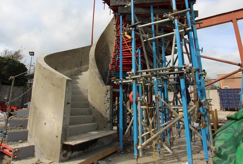 precast concrete luxury spiral curved helical stairs staircase in mould