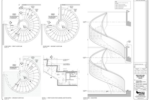 precast concrete spiral stair design drawings
