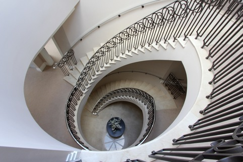 precast concrete curved spiral helical winder stairs staircase