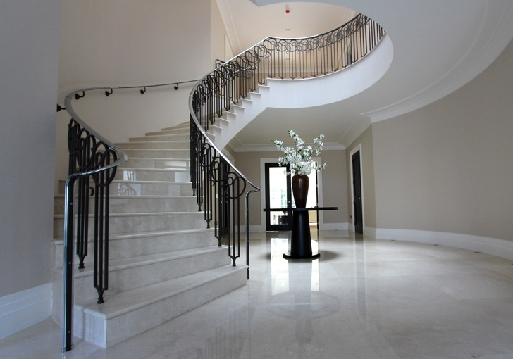 luxury precast concrete curved spiral helical stair staircase