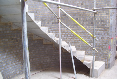 curved precast concrete cantilever step units