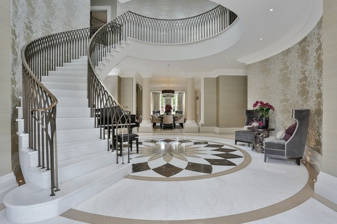 Kings Chase, Oxshott - Curved Precast Concrete Staircase